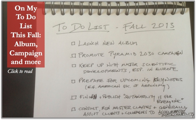 My To-Do List, Fall 2013 …